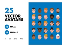 25 Vector Avatars