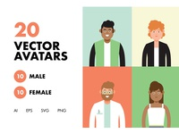 20 Vector Avatars