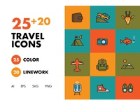 25+20 Travel Icons