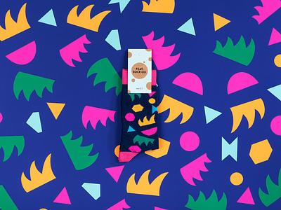 Feat.Sock Co Socks illustration sketch simple summer fashion textile hellomisterfrank featsockco leaves shapes pattern feet socks sock