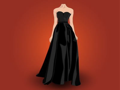 Lady Dress Vector
