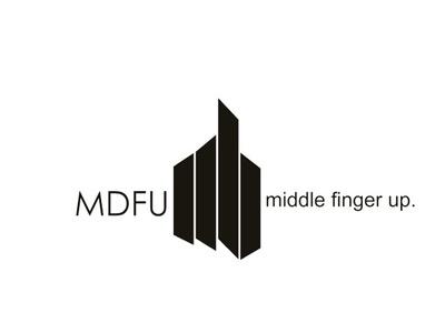 MDFU Logo illustration logo clothing brand