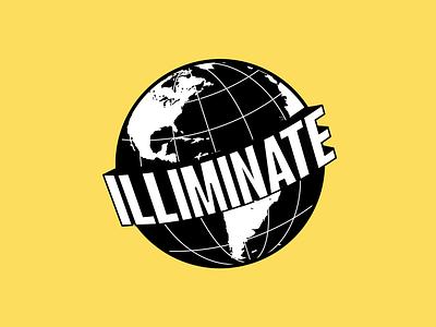 illiminate logo clothing brand brand logo illustration branding earth logo global illiminate