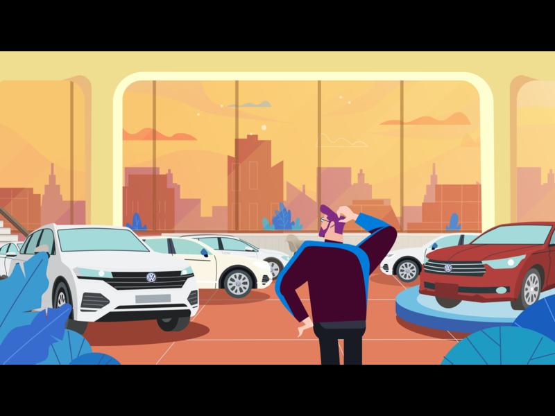 Car animation branding illustration design 插图 ui