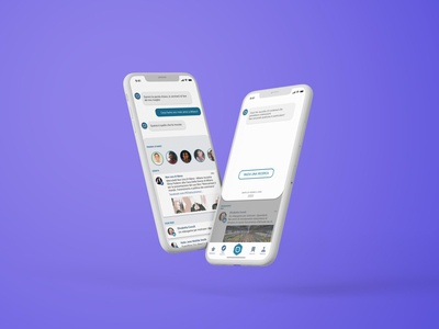 Iphone feed reader app interaction discover ai chatbot news social reader card app ui