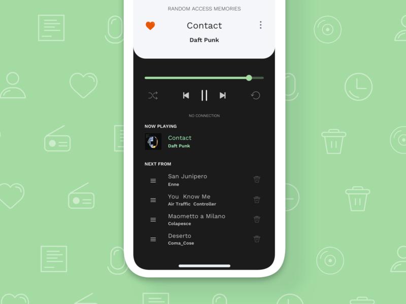 Music Player App interaction music app player music app dailyui ui