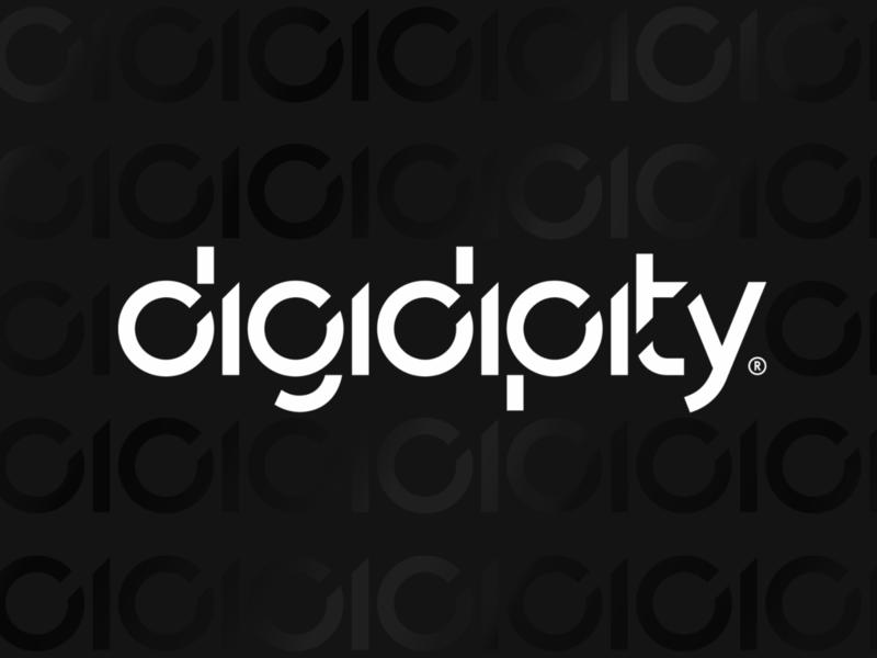 digidipity® branding 01 [DE] zahlen typografie silber schwarzweiß schwarzweiss schwarz pattern nullen minimalistisch minimal logo kreativ geometrisch geometrie einsen bytes branding bits art direction agentur