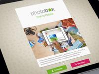 Photobox Ipad Home