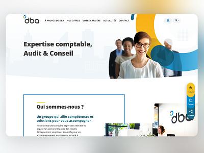 DBA landing interface webdesign ux landing page ui-design home ux-design landing