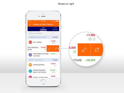 (WIP) Bank App Swipe bank app ios ios8 iphone6 iphone6plus swipe edit change category slide menu