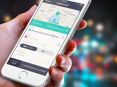 Octavdesign Ios Driver App car ux map uber taxi sam driver iphone ios menu app flat