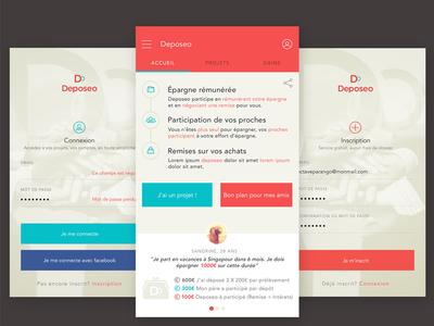 Deposeo app iOs ios flat uxdesign ux app iphone