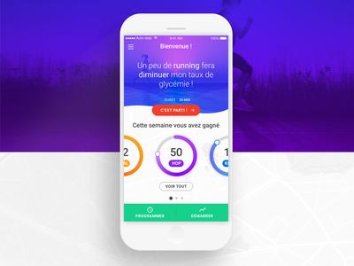 Health Activity app mobile activity sport helath design ux gradient iphone ios11 ios