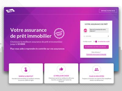Fluo Landing sketch design ux app desktop bootstrap responsive webdesign
