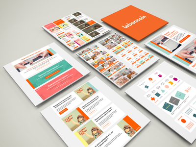 Emailing elements UI board webdesign app template ux design kit ui responsive email