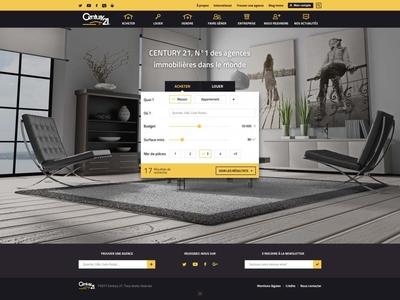 Landing page real estate responsive design app estate search box ux design webdesign responsive