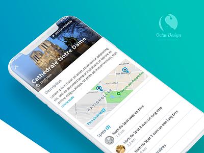 App iOs tourism AR map list webdesign ux design app ios museum tourism augmentedreality