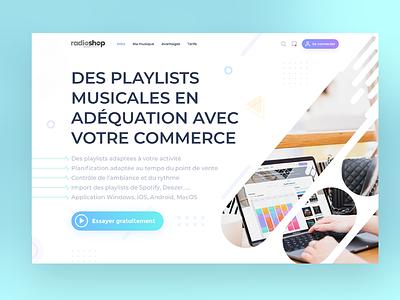 Landing music icons interface illustration webdesign responsive uidesign uxdesign ux