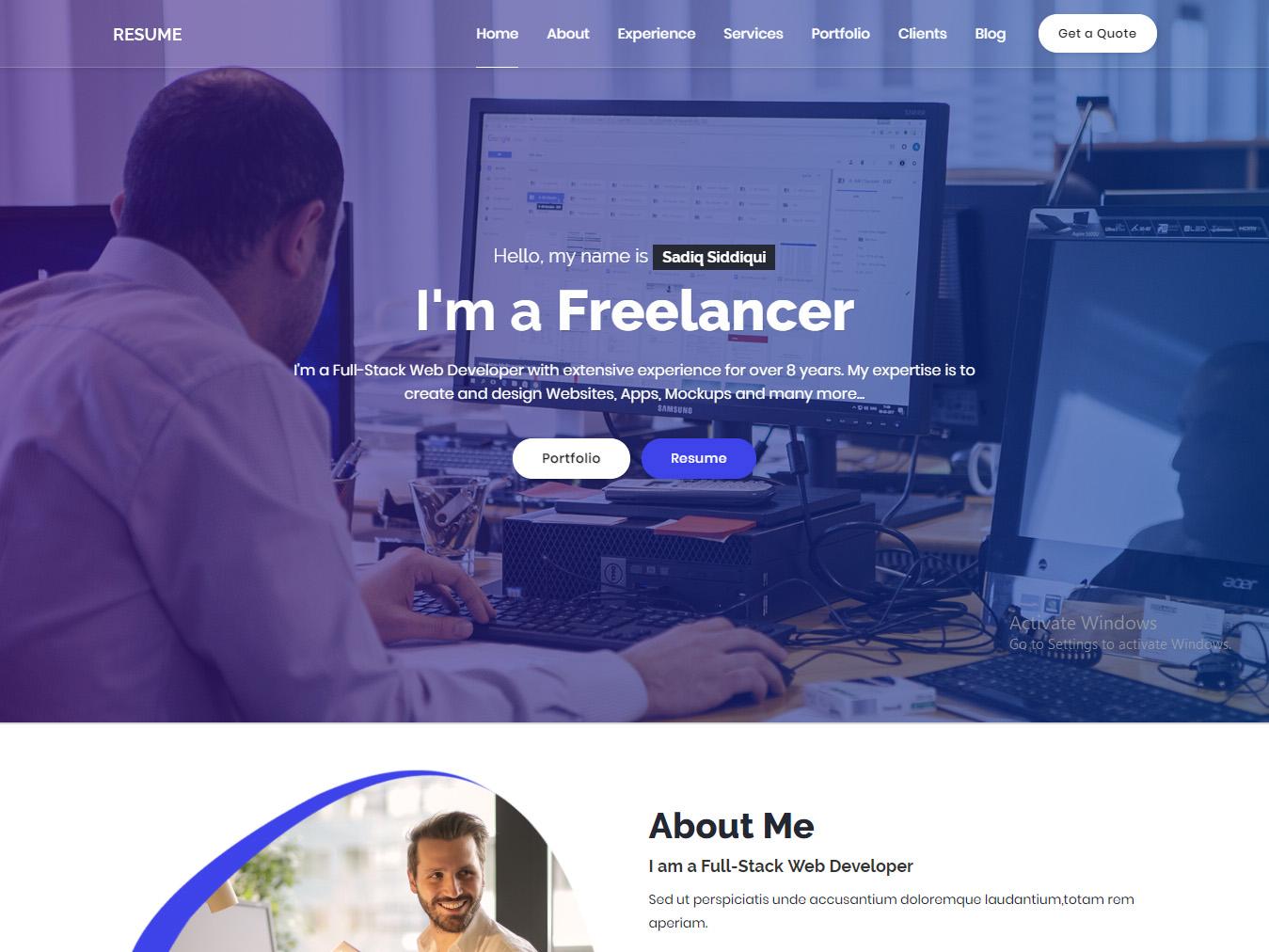 Resume - Responsive Personal Portfolio / CV Template by New