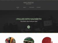 Mint Creative Homepage - Top
