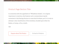 Product Page Section Title