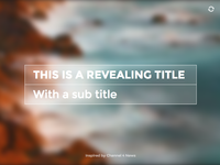 Revealing Title