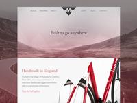 Moss Bikes Website Concept - Homepage