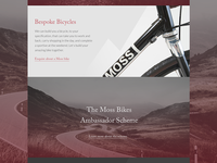 Moss Bikes Website Concept - Homepage Mid