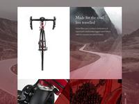 Moss Bikes Website Concept - Bike Page