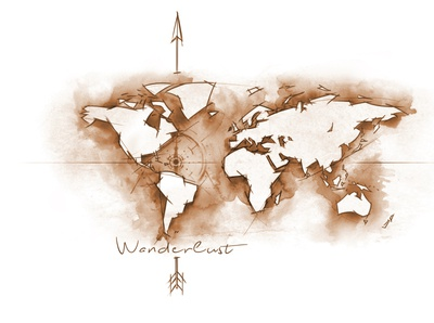 Wanderlust . Tattoo Design / Illustration