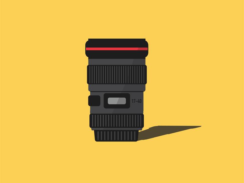 Camera lens illustration art yellow vector art vector design camera lens photography graphic design illustrator cc illustrator vector illustration