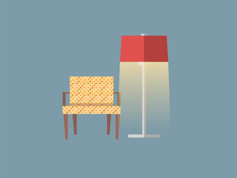 A corner of the living room livingroom furniture lamp digital illustration vector art vector illustration flat design flat illustration adobeillustator designinspiration graphicdesign illustrator vector illustrator cc illustration