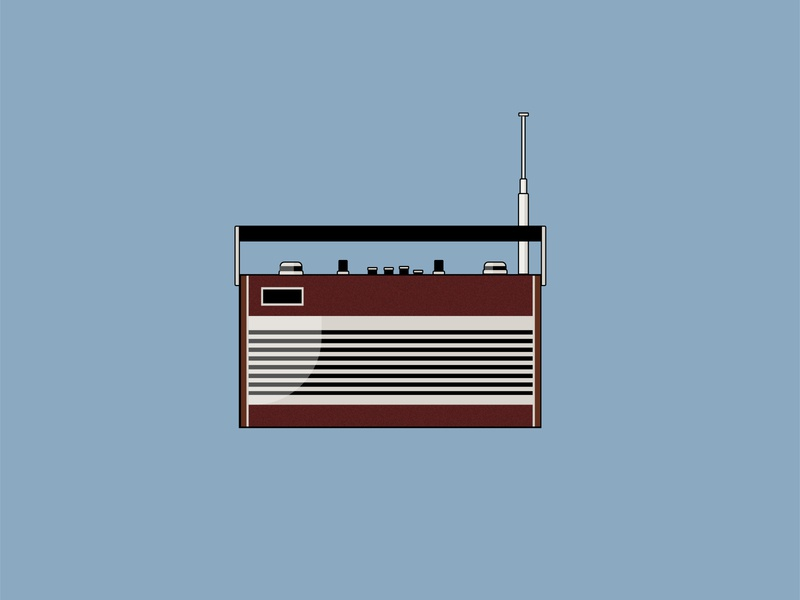 Radio illustration drawing challenge radio retro radio retro design vector vector illustration vectorart dailydrawing illustrator illustrator cc illustration