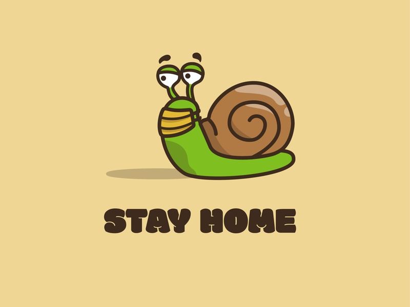 Snail says Stay home design illustration design illustration art vector vectorart vectorartist vectorartwork daily challenge daily drawing challenge daily drawing vector illustration illustrator cc illustrator illustration