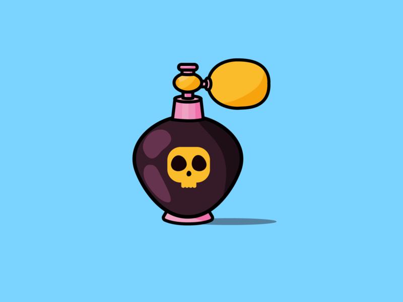What's your poison? skull perfume bottle perfume illustration art design illustrator cc illustration illustrator vector vectorart vectorartist vectorartwork daily challenge daily drawing daily drawing challenge vector illustration