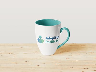 Adopting positivity branded mug logo designer logo design branding logo design logodesign branding and identity branding design brand identity brand branding brand design