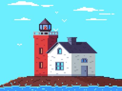 Pixel lighthouse