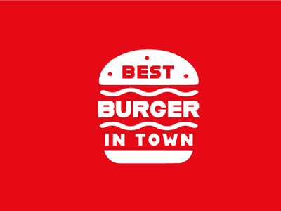 Best Burger in Twon typography logo design icon collection flat logo simple branding icon illustration logo design concept