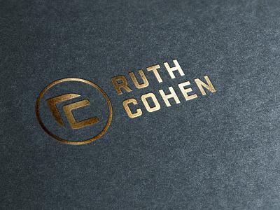 ruthcohen logo 3 logo design branding logo mark logo concept golden logo logotype typography gradient icon vector logo design logo design concept illustration branding