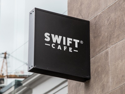 Swift cafe logo logo design logo design concept typography symbol mark logotype logo branding identity brand