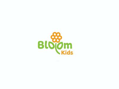 Bloom Kids logo yellow green bloom bloom kids colourful logo. kids logo creative concepts logos minimalist design iconography logo type clean graphic logo inspiration logo ideas latest shots illustration uxdbox graphic design branding logo arts logo
