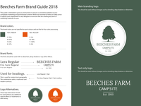Beeches Farm Campsite Brand Guide 2018
