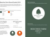 Beeches Farm Campsite Brand Guide 2018