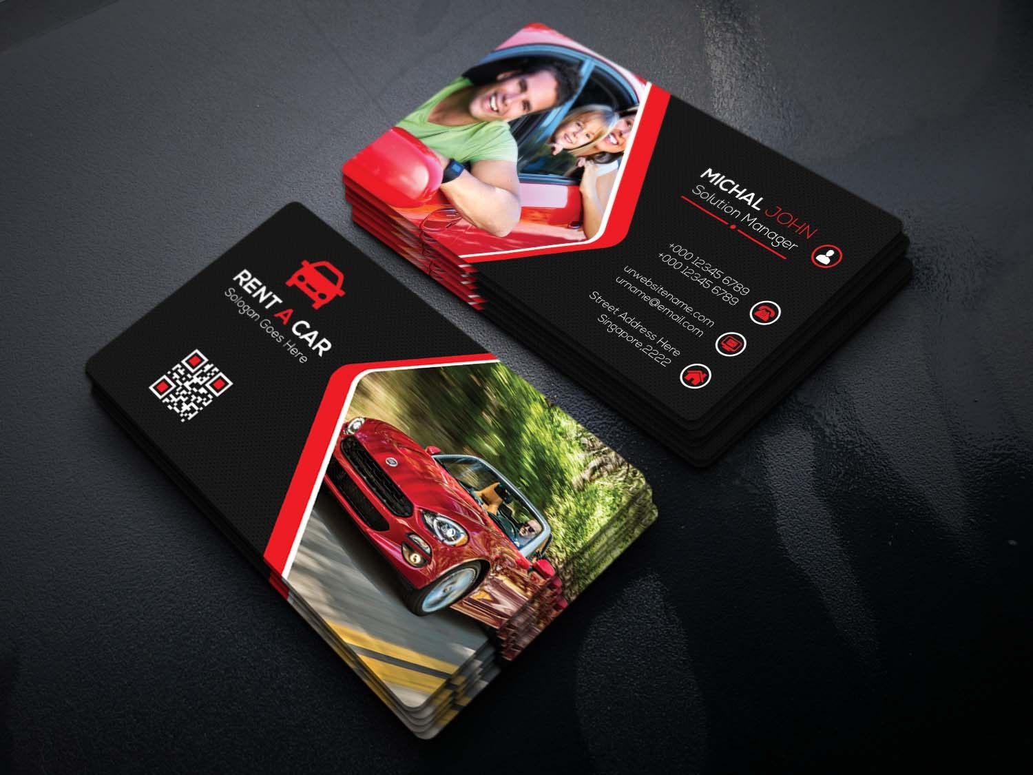 Rent A Car Business Card by sumi akther1 on Dribbble
