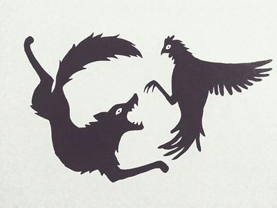 Coywolf vs Rooster
