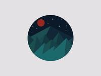 Peaks under the blood moon
