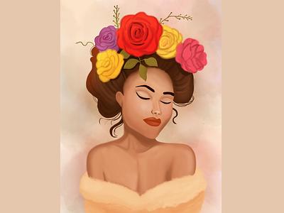 Self love is everything women illustration flowers illustration black beauty black women self love flower women flower girl children art children book illustration illustration