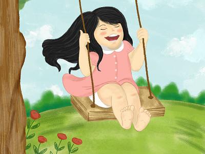 Childhood memories children art children book illustration illustration
