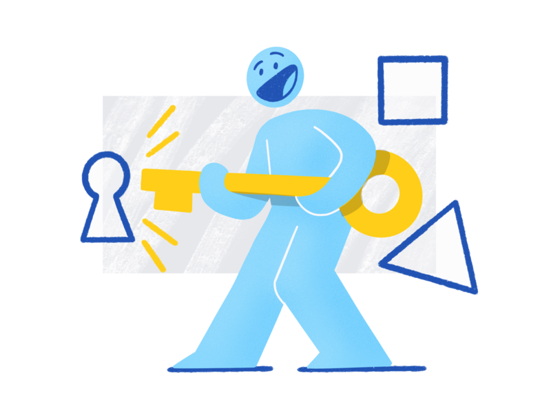 Log In Illustration Exploration 🔑 welcome screen onboarding process onboarding screen unlock key product design pattern drawing vector digitalart 2d darkcube character design sign in log in onboarding illustration illustration