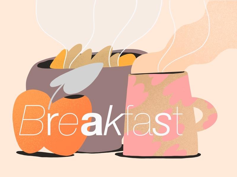 Breakfast illustration 🥯 custom branding illustration landing page illustration tasty food illustration product design 2d design vector food app gppd food breakfast darkcube illustration digitalart